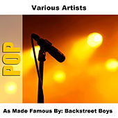 As Made Famous By: Backstreet Boys by Studio Group