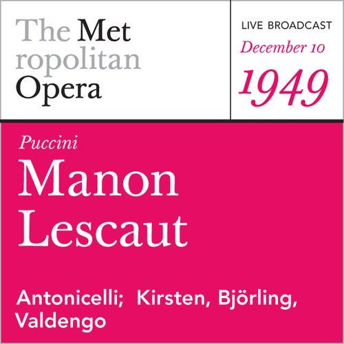 Puccini: Manon Lescaut (December 10, 1949) by Metropolitan Opera