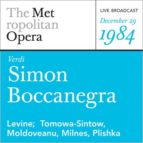 Verdi: Simon Boccanegra (December 29, 1984) by Metropolitan Opera