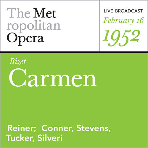Bizet: Carmen (February 16, 1952) by Georges Bizet