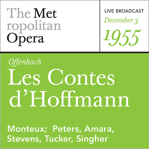 Offenbach: Les Contes d'Hoffmann (December 3, 1955) by Jacques Offenbach
