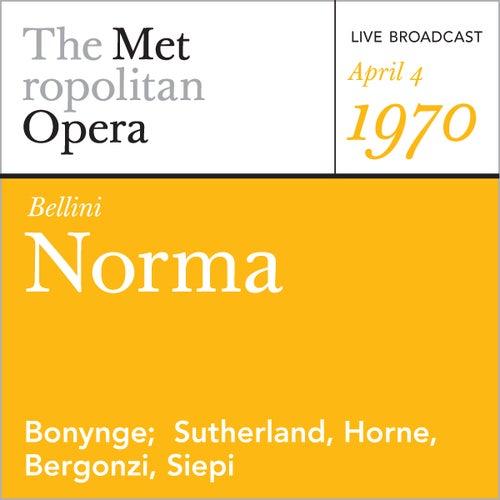 Bellini: Norma (April 4, 1970) by Vincenzo Bellini