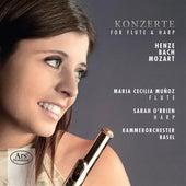 Henze, C.P.E. Bach & Mozart: Konzerte for Flute & Harp by Maria Cecilia Muñoz