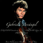 "Paganini: Concerto No. 1 in D Major, Op. 6 - Sarasate: Gipsy Airs for Violin and Orchestra, Op. 20 ""Aires Gitanos"" - Franck: Sonata in a Major for Violin and Piano by Gabriel Arcángel"