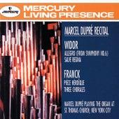 Widor: Symphony No.6: Allegro; Salve Regina/Franck: Pièce Héroïque; Three Chorales by Marcel Dupré