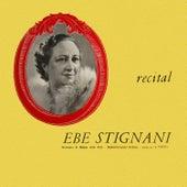Recital by Ebe Stignani