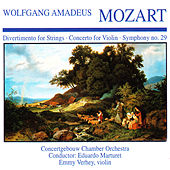Wolfgang Amedeus Mozart: Divertimento for String · Concerto for Violin · Symphony No. 29 by Emmy Verhey