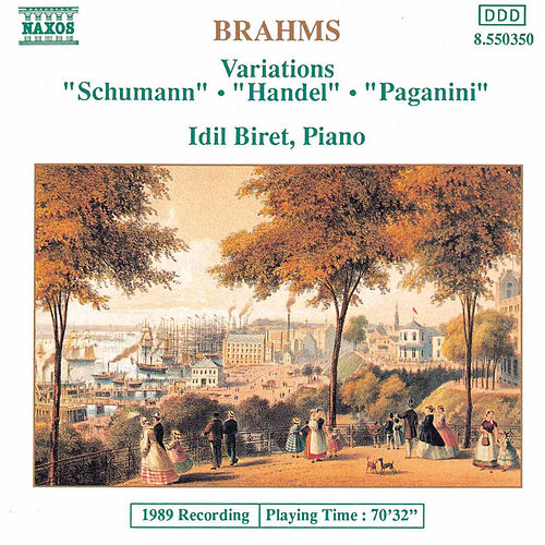 Variations: 'Schumann', 'Handel', 'Paganini' by Johannes Brahms