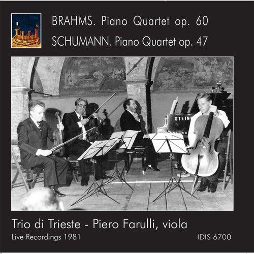 Brahms & Schumann: Piano Quartets (Live) by Trio Di Trieste