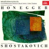 Honegger, Shostakovich: Concertos for Cello and Orchestra by Miloš Sádlo