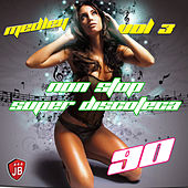Medley Non Stop Super Discoteca Dance 90 Megamix: Life / Batucada / Bip Bip / Apache / Keep on Loving / Pop Corn / Boom / Happy Nation / O Canto da Cidade / Rich Girl / Numb / Night Fever / Let Me Take You Higher / I'm Not in Love / Rototom by Disco Fever