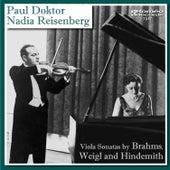 Viola Sonatas by Brahms, Weigl, and Hindemith by Nadia Reisenberg