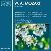 Symphonieën No. 32, K. 385, No. 35, K. 318 & No. 36, K. 425 by Berliner Philharmoniker