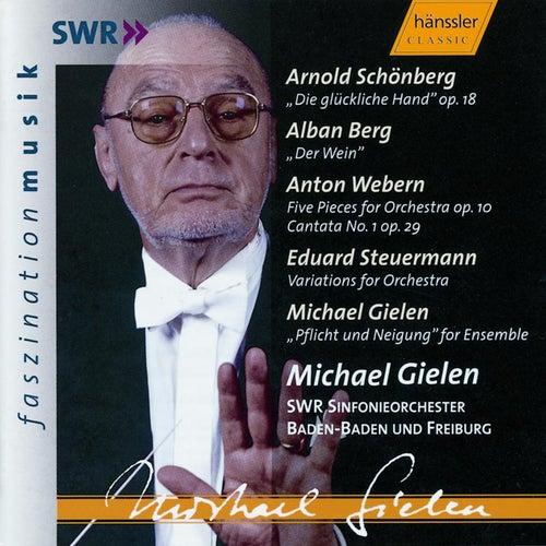 Arnold Schönberg: 'Die glückliche Hand' op. 18 & Orchestral Works by A. Berg, A. Webern, E. Steuermann, M. Gielen by Runfunkorchester Berlin