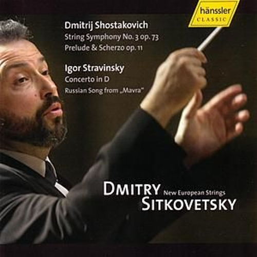 Strring Symphony No. 3 op. 73, Prelude & Scherzo op. 11, Concerto in D, Russian Song from 'Mavra' by New European Strings