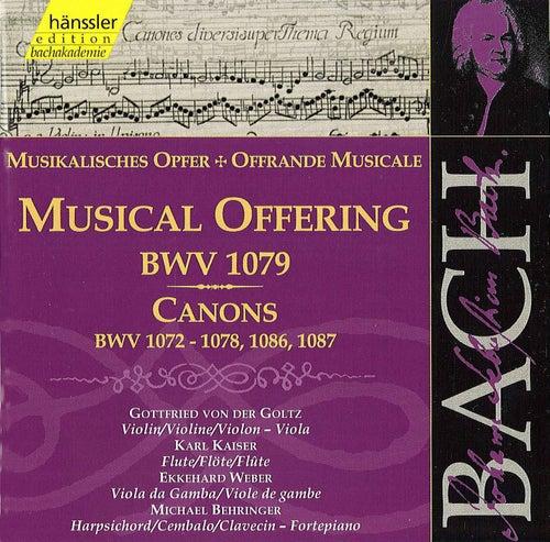 Johann Sebastian Bach: The Musical Offering, Canons BWV 1072 - 1078, 1086 & 1087 von Gottfried von der Goltz