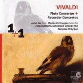 Vivaldi: Flute Concertos & Recorder Concertos by Janet See, Marion Verbruggen, Philharmonia Baroque Orchestra, Nicholas McGegan