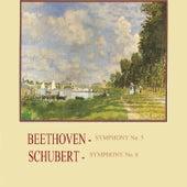 Beethoven - Symphony No. 5, Schubert - Symphony No. 8 by Radio Symphonierorchester Ljubljana