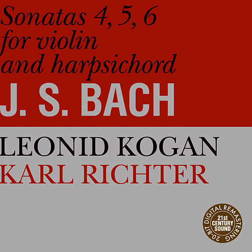 Bach: Sonatas for Violin and Harpsichord No. 4-6 by Leonid Kogan