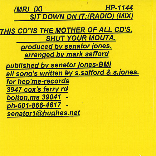 Sit Down On It (Radio Mix) by Mr X