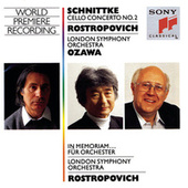 Schnittke:  Concerto No. 2  for Cello and Orchestra, In memoriam...for Orchestra by Mstislav Rostropovich