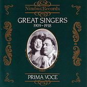 Great Singers 1909 - 1938 by Various Artists