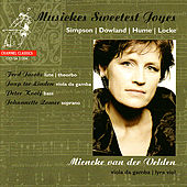 Musickes Sweetest Joyes - Simpson, Jones, Corkine, Hume, et al. by Mieneke va der Velden