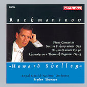 RACHMANINOV: Piano Concertos Nos. 1 and 4  / Rhapsody on a Theme of Paganini by Howard Shelley