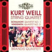 Schulhoff, Weill & Hindemith: String Quartets by Brandis Quartett