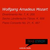 Red Edition - Mozart: Divertimento No. 7, K. 205 & Piano Concerto No. 21, K. 467 by Various Artists