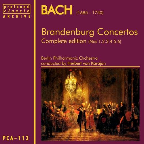 Bach: Brandenburg Concertos Nos 1,2,3,4,5 & 6 by Berlin Philharmonic Orchestra