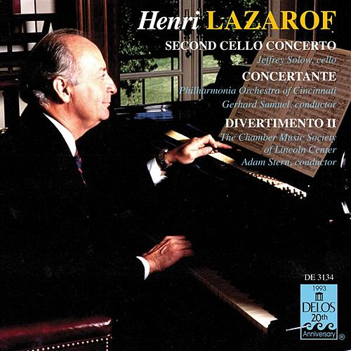 LAZAROF, H.: Cello Concerto No. 2 / Concertante for 2 Horns and 16 Strings / Divertimento II by Various Artists