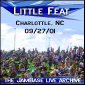 9-27-01 - Charlotte, NC by Little Feat