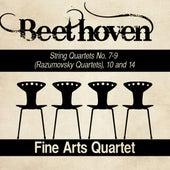 Beethoven: String Quartets No. 7-9 (Razumovsky Quartets), 10 and 14 by Fine Arts Quartet