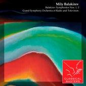 Balakirev Symphonies Nos. 1, 2 by Various Artists