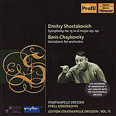 SHOSTAKOVICH: Symphony No. 15 / TCHAIKOVSKY, B.: Theme and 8 Variations by Kirill Kondrashin