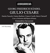 Handel: Giulio Cesare by Boris Christoff