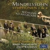 Mendelssohn: Symphonies Nos. 1 & 4 - Widmann: Ad absurdum by Various Artists