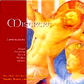 Miserere, Lamentations by Various Artists