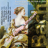 Carl Philipp Emanuel Bach - Five trio sonatas for flute and violin, two flutes and b. c. by Wilbert Hazelzet