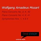 Red Edition - Mozart: Piano Concertos Nos. 3, 4 & Symphonies Nos. 1, 4, 5 by Various Artists