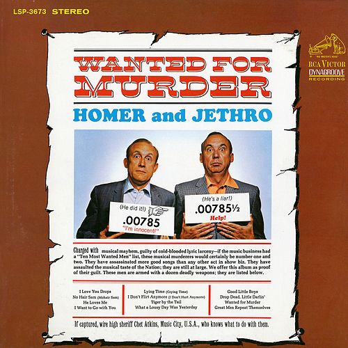 Wanted for Murder by Homer and Jethro