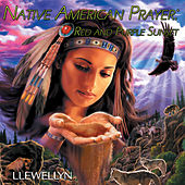 Native American Prayer - Red and Purple Sunset by Llewellyn