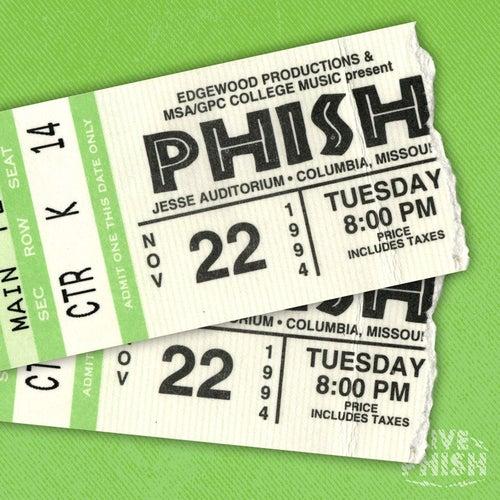 PHISH: 11/22/94 Jesse Auditorium- University of Missouri, Columbia, MO (Live) by Phish