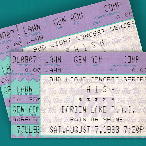 PHISH: 7/7/93 Darien Lake Performing Arts Center, Darien Center, NY (Live) by Phish