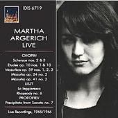 Chopin, Liszt & Profokiev: Piano Works (Live) by Martha Argerich
