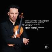 Shostakovich: Violin Concerto No. 2, Op. 129 & Tchaikovsky: Violin Concerto, Op. 35 by Linus Roth