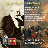 Tchaikovsky: Symphony No. 4, Capriccio italien, Slavonic March & 1812 Overture (HD Remastered 2016) by Various Artists
