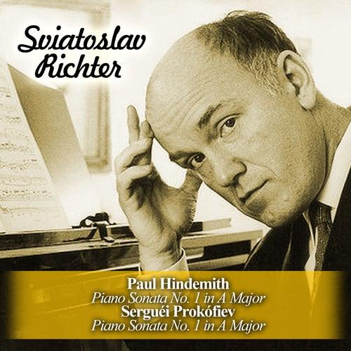 Paul Hindemith: Piano Sonata No. 1 in A Major / Serguéi Prokófiev: Piano Sonata No. 1 in A Major by Sviatoslav Richter