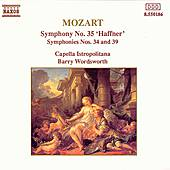 Symphonies Nos. 34, 35 & 39 by Wolfgang Amadeus Mozart